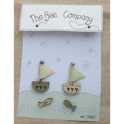 THE BEE COMPANY : 2 bateaux et 2 poissons
