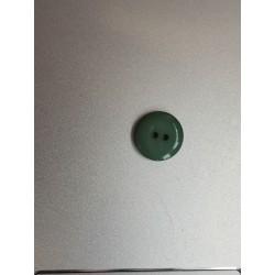 Boutons rond vert brillant à 2 trous
