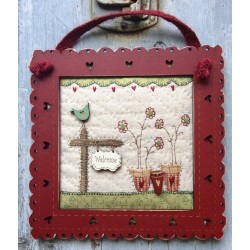 """The Bee Company : kit patchwork - Coeur """"""""Always be happy"""""""