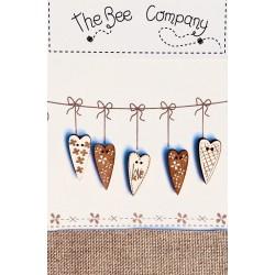 The Bee Company : Boutons bois coeurs Love