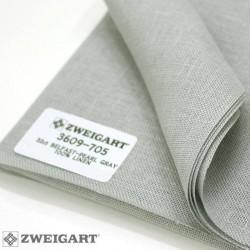 Zweigart - Toile Belfast coloris gris argent