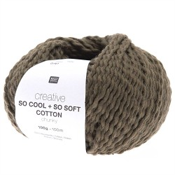 Rico Design : Creative so cool + so soft cotton chunky coloris olive