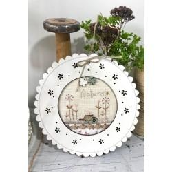 """The Bee Company : Kit de point de croix - Etiquette """"Jardin"""""""