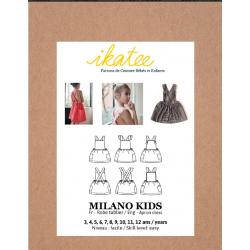 Ikatee : Pochette patron de couture MILANO KIDS Robe 3-12A