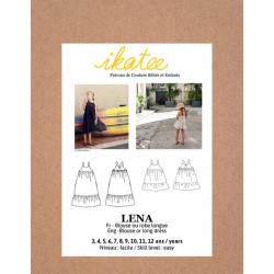 Ikatee : Pochette Patron de couture LÉNA Blouse + Robe 3-12A
