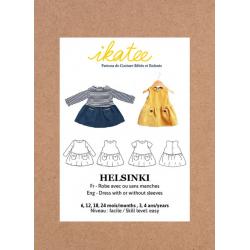 Ikatee : Pochette patron de couture HELSINKI Robe 6M-4A