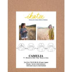 Ikatee : Pochette Patron de couture CAMELIA Blouse + Robe 3-12