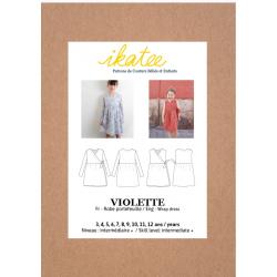Ikatee :Pochette patron de couture VIOLETTE Robe 3-12A