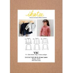 Ikatee : Pochette patron de couture VIC Gilet 3-12A
