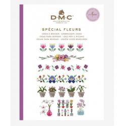 DMC :  Mini livre point de croix  Fleurs