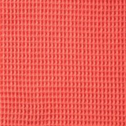Tissu éponge en nid d'abeille corail
