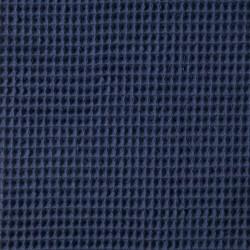 Tissu éponge en nid d'abeille indigo
