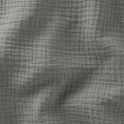 Tissu double gaze uni coloris vert de gris