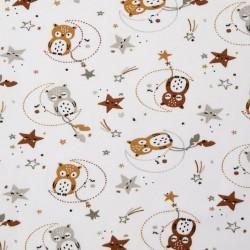 Tissu jersey Lunazel blanc