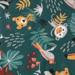 Tissu jersey Papaya cactus
