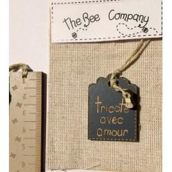 """THE BEE COMPANY : Etiquette """"tricoté avec amour"""""""