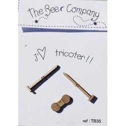 The Bee COMPANY- Bouton J'aime tricoter