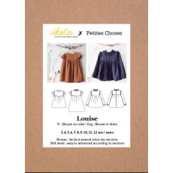 Ikatee : Pochette Patron de couture LOUISE Blouse / Robe 3-12A