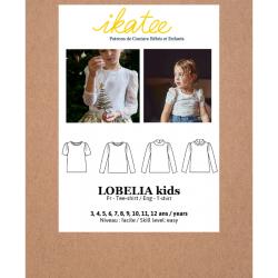 Ikatee : Pochette patron de couture LOBELIA Kids Tee-shirt 3-12A