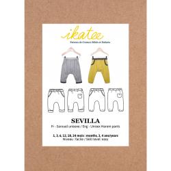 Ikatee : Pochette Patron de couture SEVILLA Sarouel Mixte 1m-4a