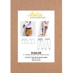 Ikatee : Pochette patron de couture DAKAR Pantalon ou Short Enfant mixte 3-12