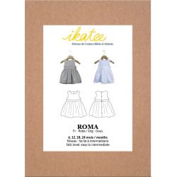 Ikatee : Pochette patron de couture ROMA Robe sans manche Bébé Fille 6-24 mois