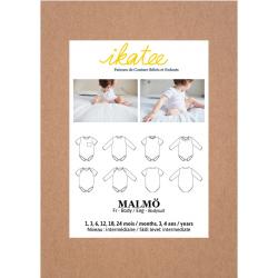 Ikatee : Pochette patron de couture MALMÖ Body 1M-4A