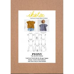 Ikatee : Pochette Patron de couture PEONY Top 3-12A