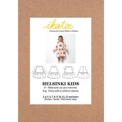 Ikatee : Pochette Patron de couture HELSINKI Kids Robe 3-12A