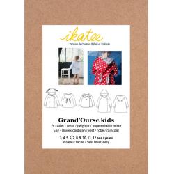 Ikatee : Pochette patron de couture GRAND'OURSE Kids Gilet 3-12A