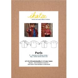 Ikatee : Pochette patron de couture PARIS Chemise mixte 6m-4a