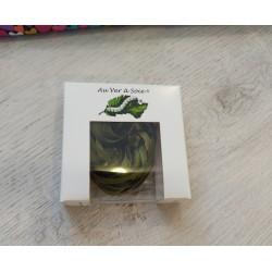 Au ver à soie : ruban de soie coloris kaki 4 mm