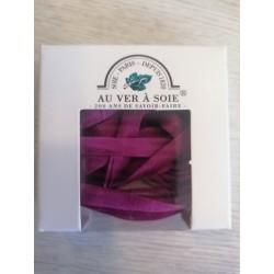 Au ver à soie : ruban de soie coloris violet  7 mm