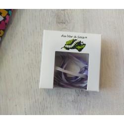 Au ver à soie : ruban de soie coloris dégradé violet 4 mm