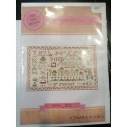 Marie Suarez - Kit broderie traditionnelle My Pink Needle