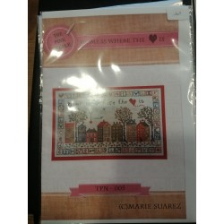 Marie Suarez - Kit broderie traditionnelle Home is where the heart is