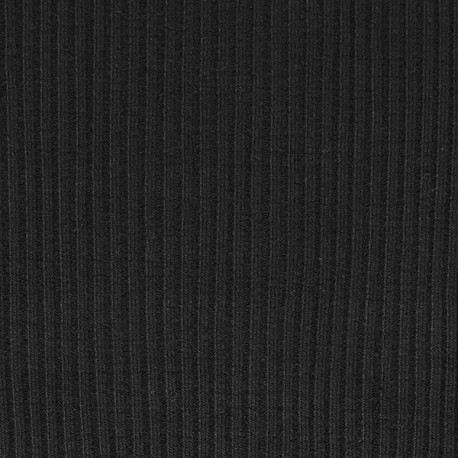 Bord côte côtelé poignet coloris Noir