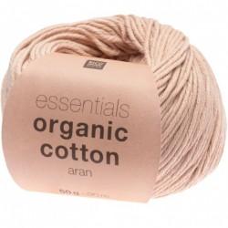 Rico Design - Essentials Organic Cotton Aran coloris poudre