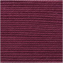 Rico Design -Essentials Coton Soft Merino Aran - Couleur Rouge Vin ou 003