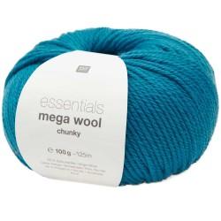 Rico Design - Laine à tricoter Essentials Mega Wool Chunky coloris turquoise
