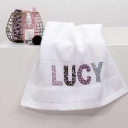 Rico Design - Serviette de toilette à broder coloris blanc