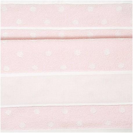 Rico Design - Serviette de toilette à broder coloris rose à  pois